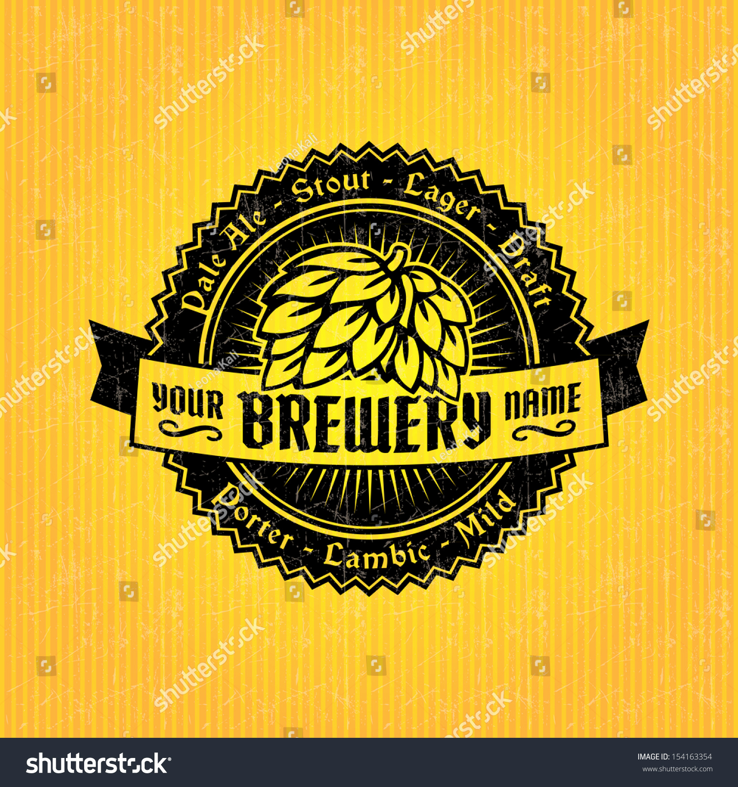Beer Label Design Template New Beer Label Design Template Stock Vector