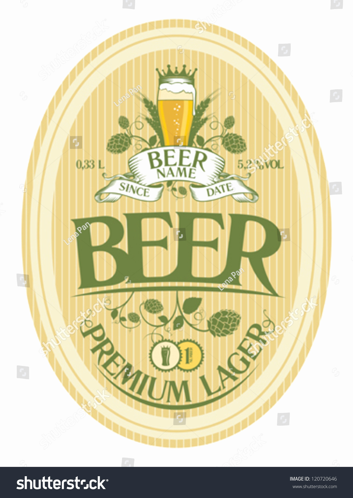 Beer Label Design Template Unique Beer Label Design Template Stock Vector Illustration