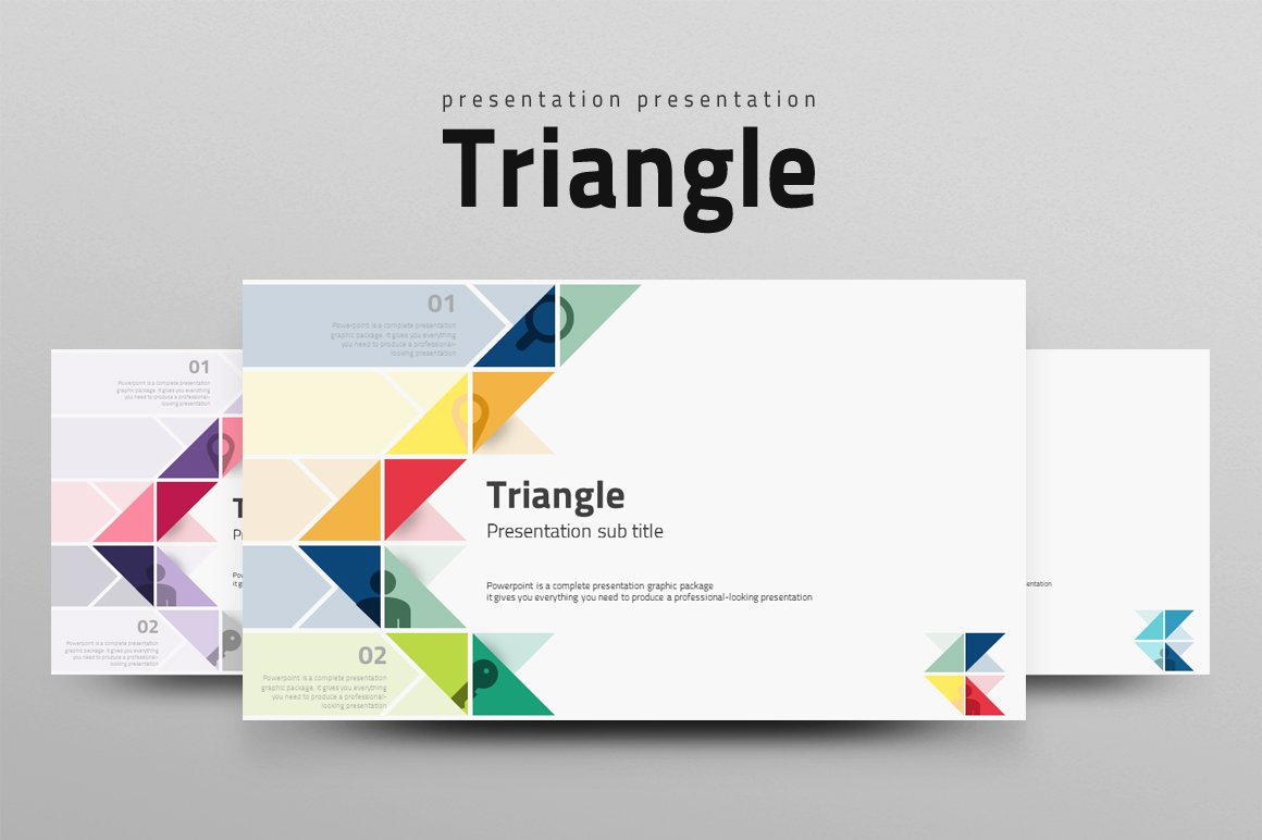 Best Powerpoint Templates Free Download Elegant Triangle Presentation Templates Creative Market