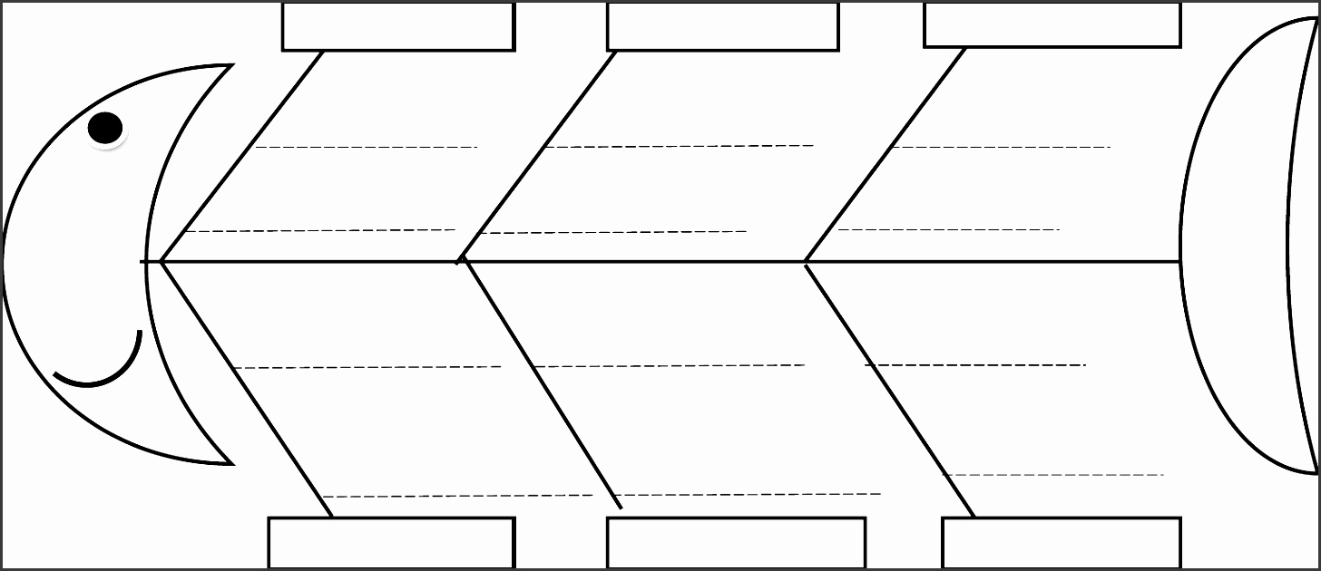 Blank Fishbone Diagram Template Awesome 5 Line Fishbone Diagram Maker Sampletemplatess