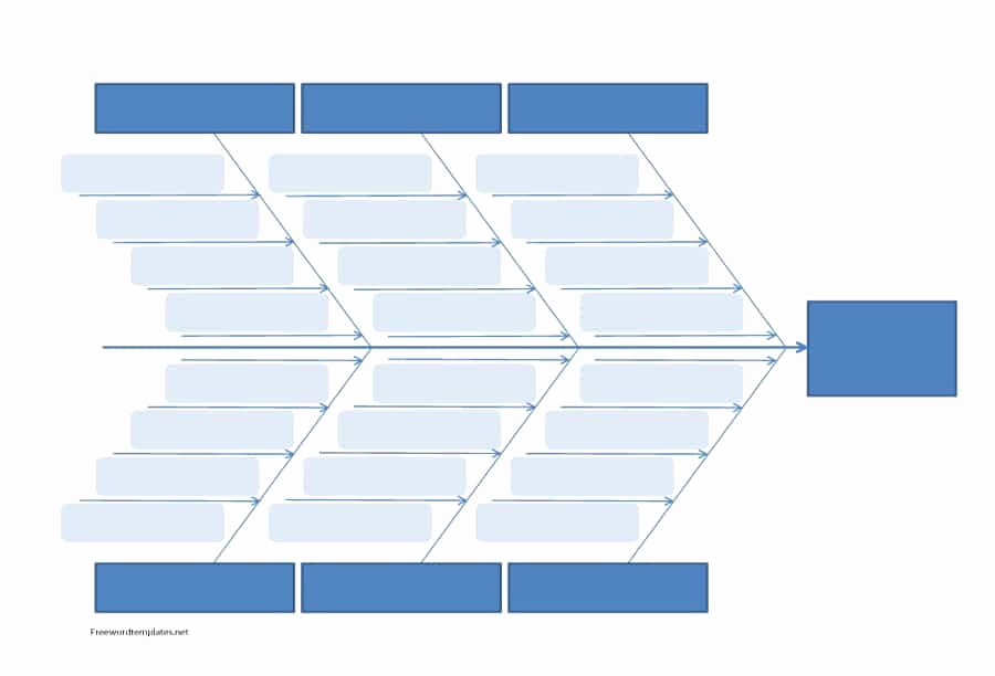 Blank Fishbone Diagram Template Fresh 43 Great Fishbone Diagram Templates & Examples [word Excel]