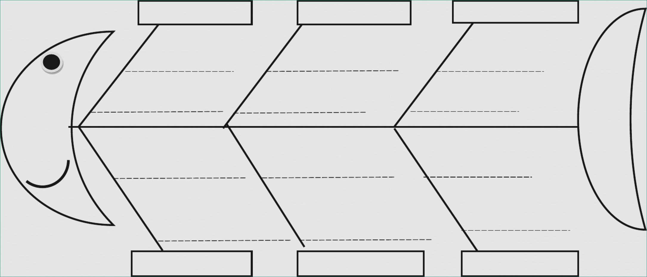 Blank Fishbone Diagram Template Inspirational Blank Cause and Effect Diagram