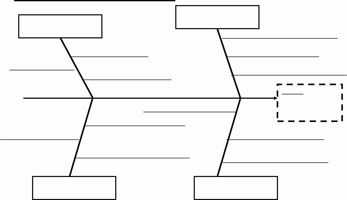 Blank Fishbone Diagram Template Lovely Fishbone Diagram In Word and Pdf formats