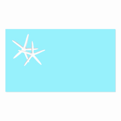 Blank Place Card Template Awesome Blank Aqua Starfish Place Cards Business Card Templates