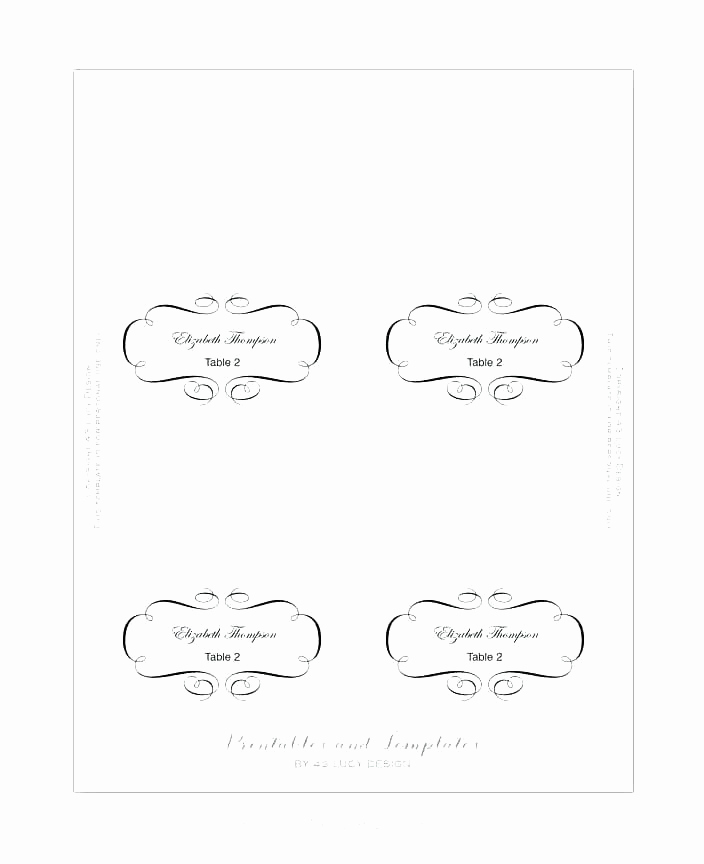 Blank Place Card Template Awesome Blank Place Card Template