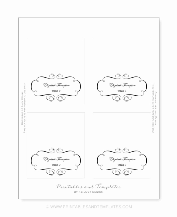 Blank Place Card Template Awesome Free Printable Blank Place Card Template