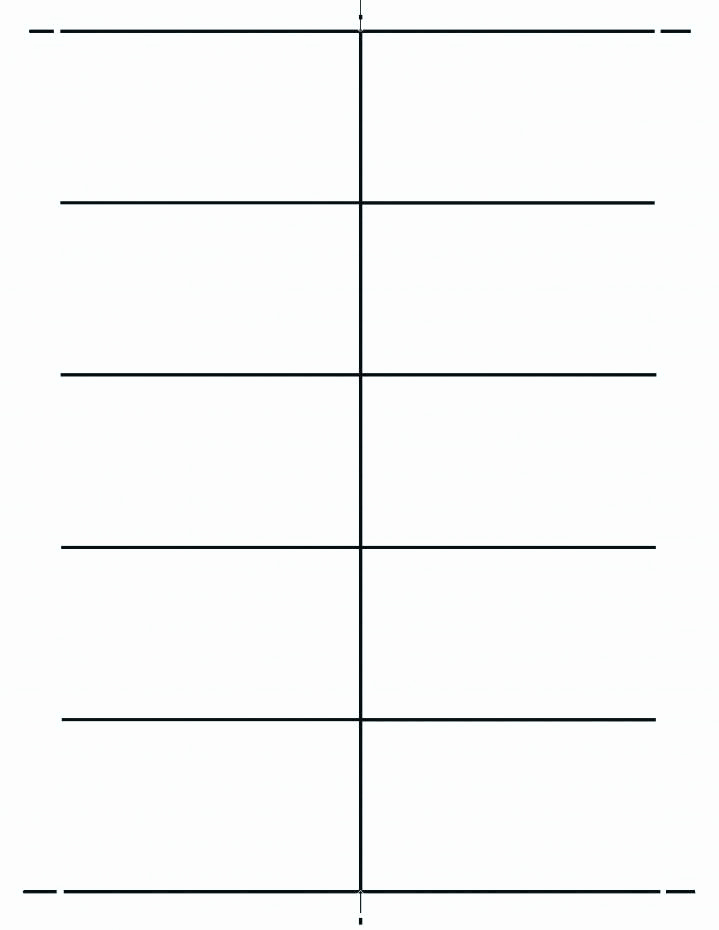 Blank Place Card Template Elegant Blank Place Card Template 4 Per Sheet