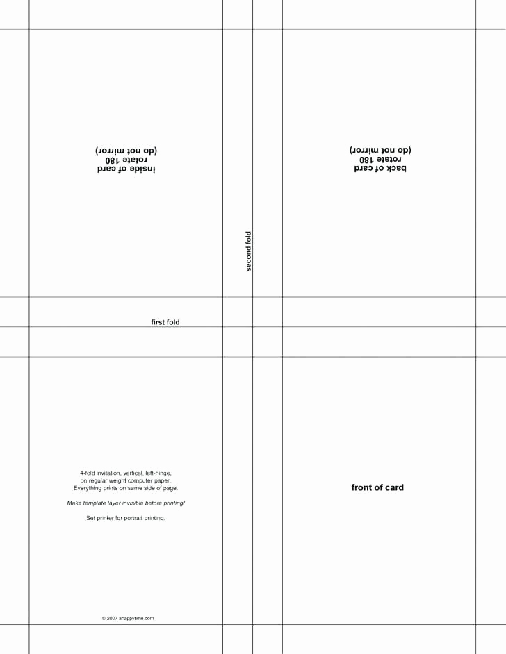 Blank Place Card Template Fresh Blank Place Card Template 4 Per Sheet