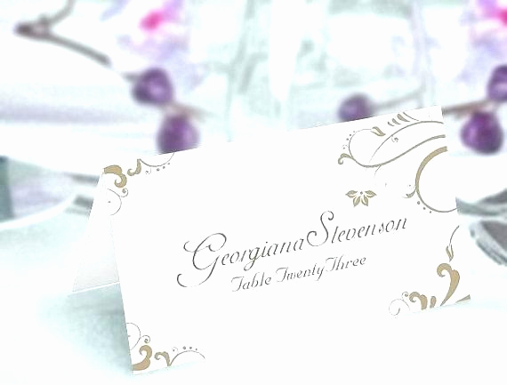 Blank Place Card Template Inspirational Printable Place Cards Template
