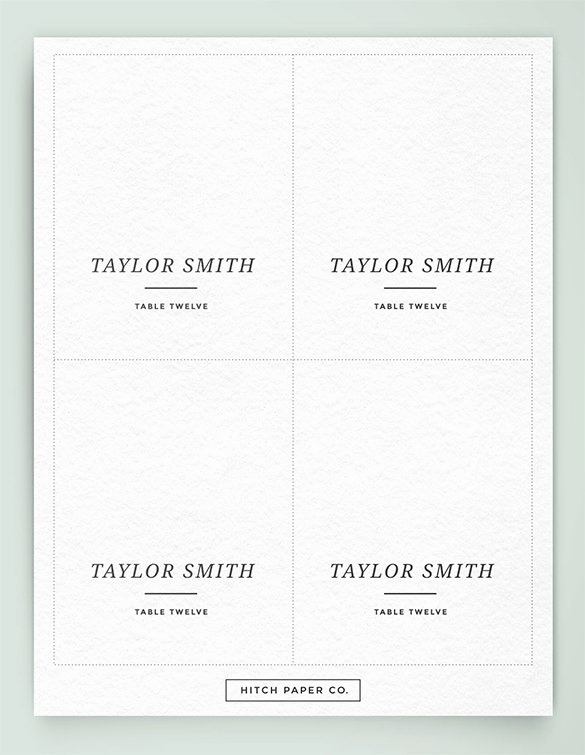 Blank Place Card Template Luxury Free Printable Blank Place Card Template