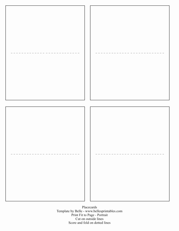 Blank Place Card Template Unique Free Printable Blank Place Card Template