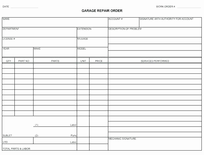 Body Shop Estimate Template Inspirational Body Shop Repair Estimate Template – Ddmoon