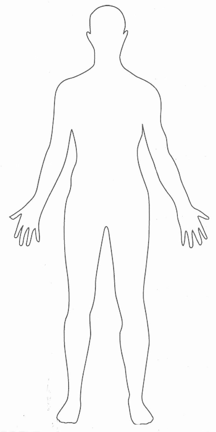 Body Template for Fashion Design Awesome Printable Human Body Outline Party Fashion