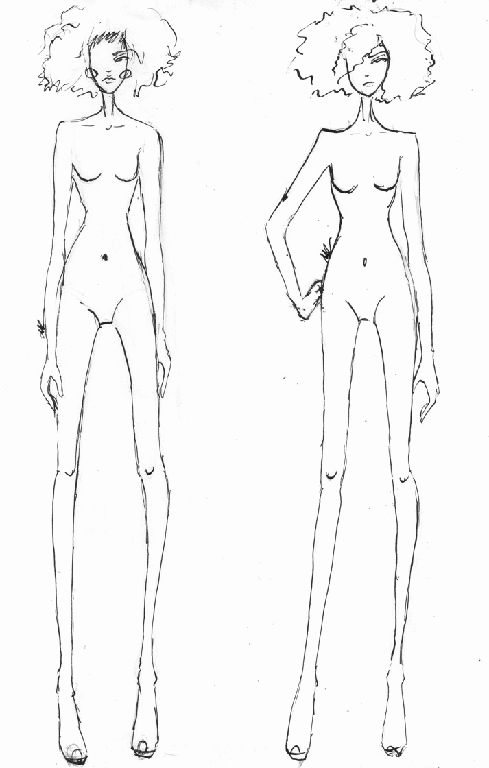 Body Template for Fashion Design Elegant Templates Fashion Drawings and Fashion Poses On Pinterest