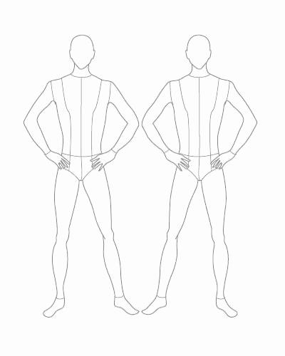 Body Template for Fashion Design Elegant the Gallery for Male Fashion Body Templates