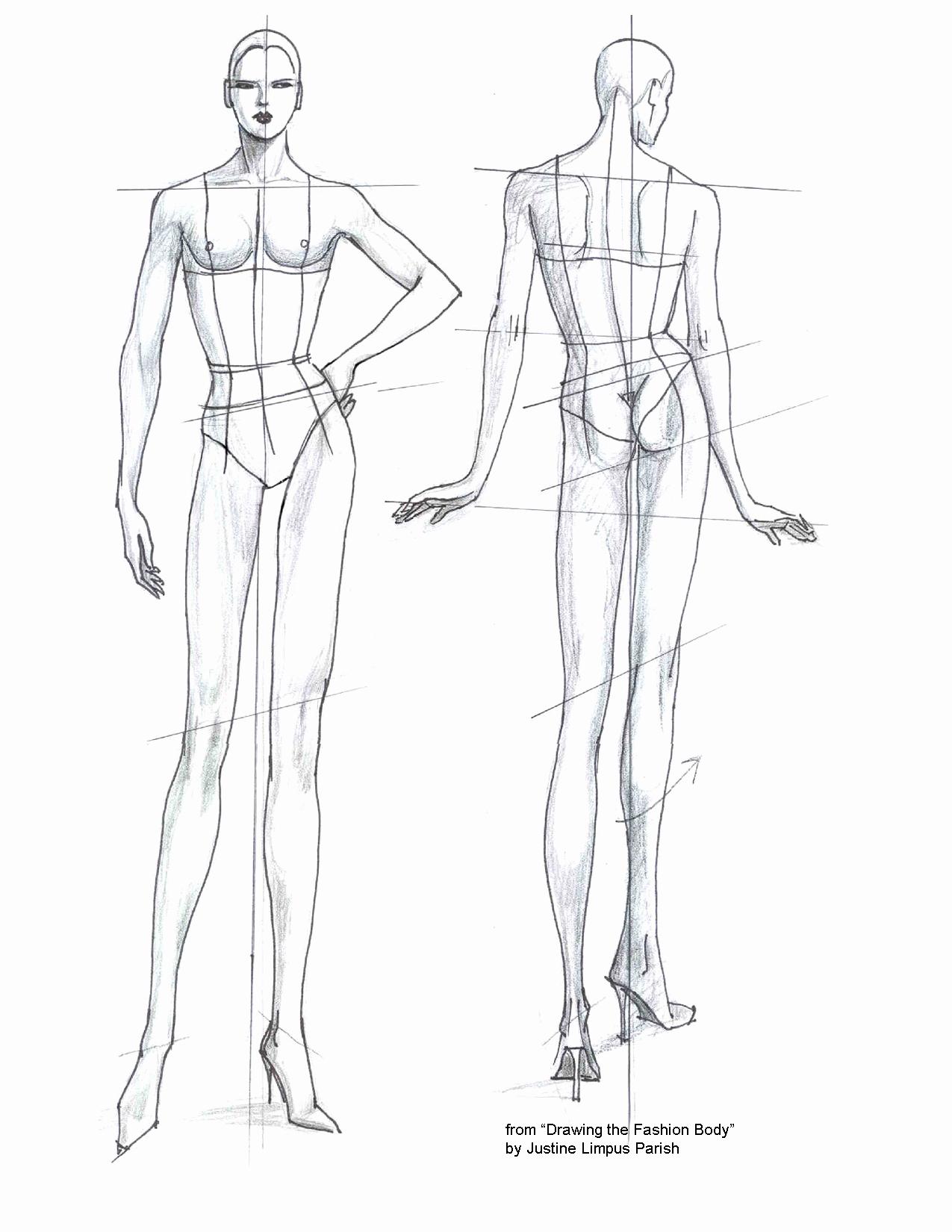Body Template for Fashion Design Fresh Fashion Templates