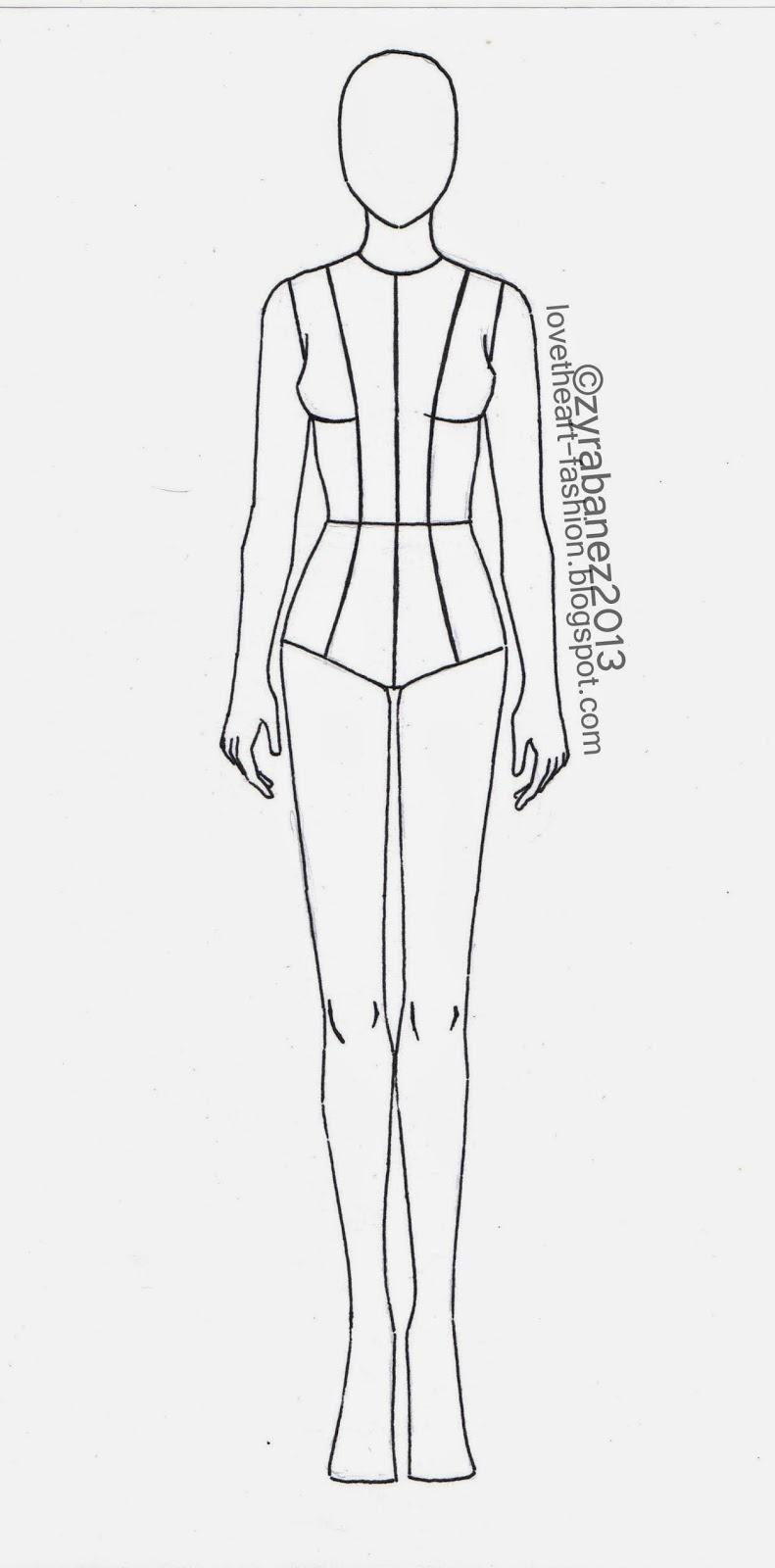 Body Template for Fashion Design Fresh Zyra Bañez August 2013