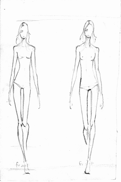 Body Template for Fashion Design Inspirational Bow In Her Hair July 2010
