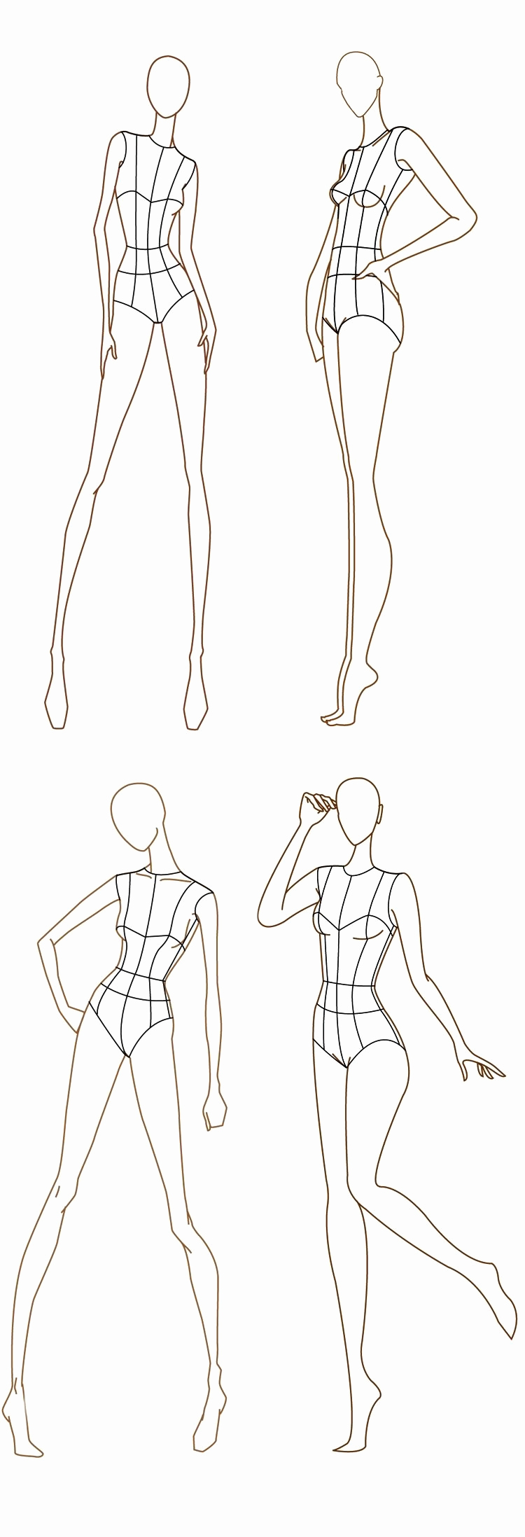 Body Template for Fashion Design Inspirational Free Fashion Croquis 120 Fashion Figure Templates