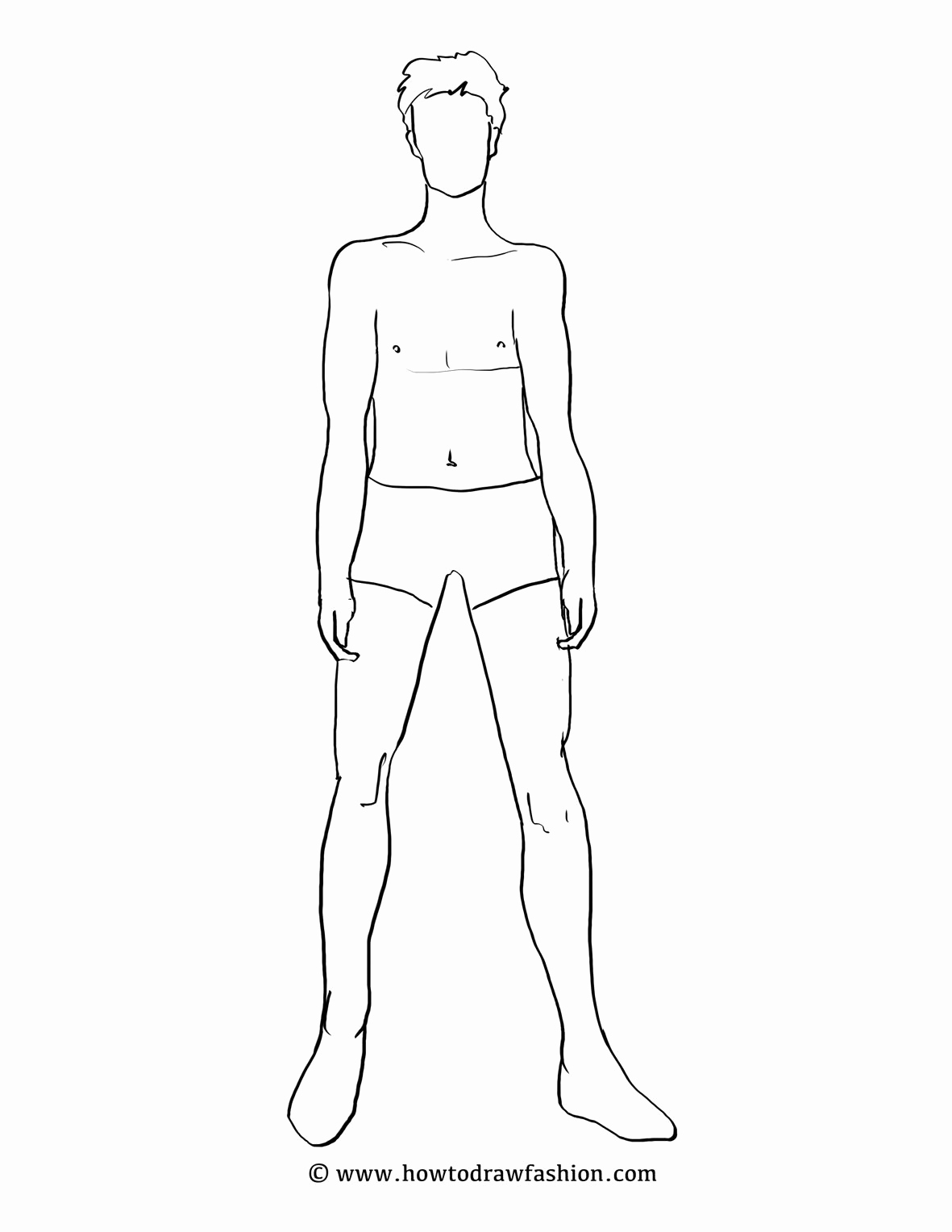 Body Template for Fashion Design Lovely Male Fashion Template Google Search