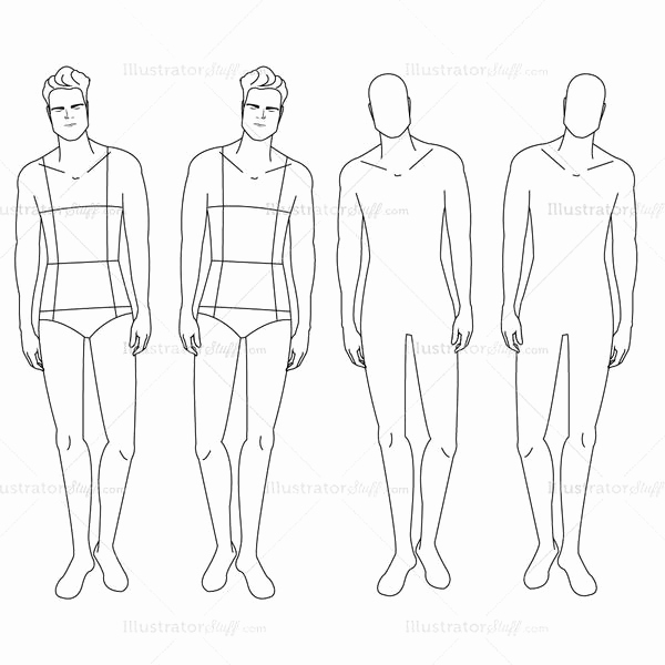 Body Template for Fashion Design Unique Male Fashion Croquis Template – Templates for Fashion