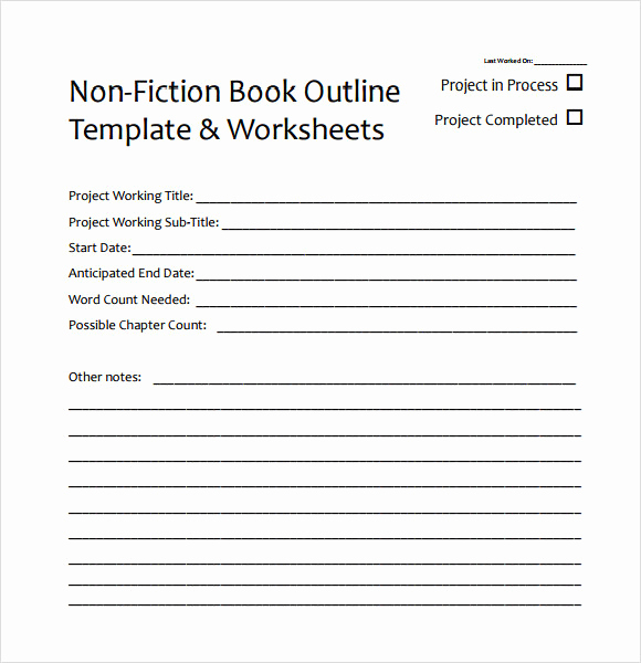 Book Writing Templates Microsoft Word Awesome 8 Useful Book Outline Templates to Download