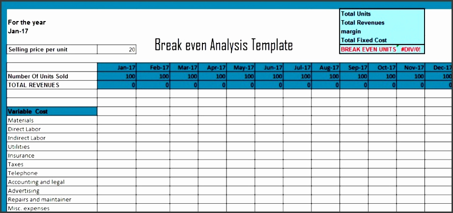Break even Analysis Graph Template Unique 10 Break even Analysis Chart Template Excel