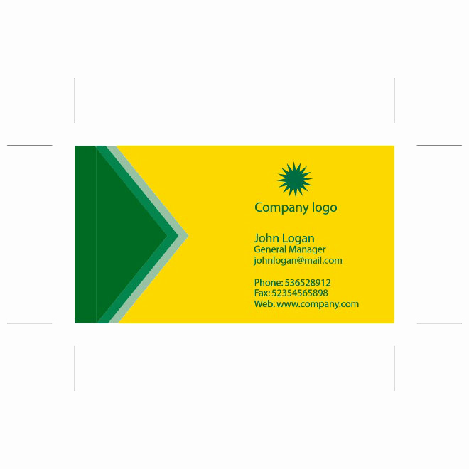 Business Card Template Illustrator Free Fresh Yellow Green Business Card Template Download at Vectorportal