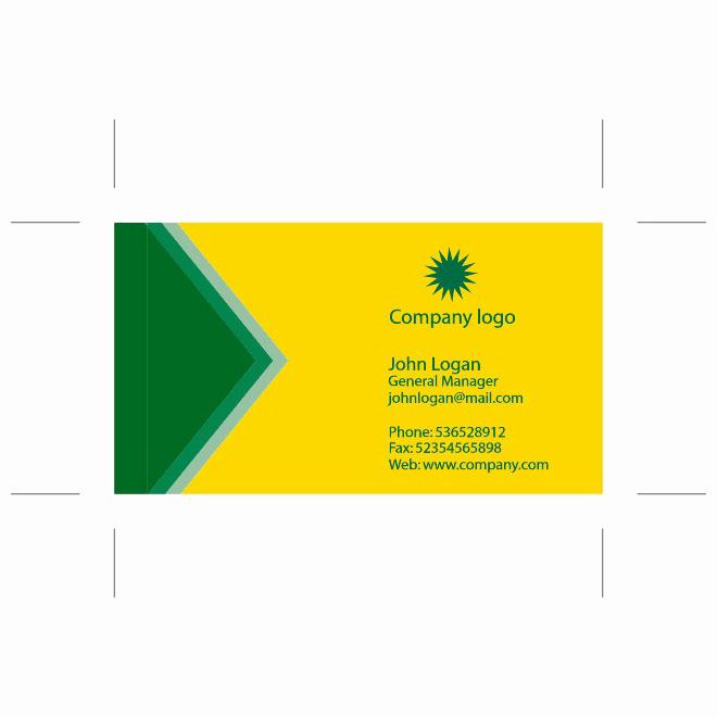 Business Card Template Illustrator Free Fresh Yellow Green Business Card Template Download at Vectorportal