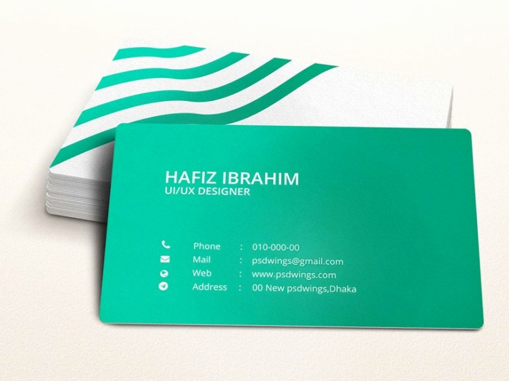 Business Card Template Illustrator Free Inspirational Green Illustrator Business Card Template Free Download