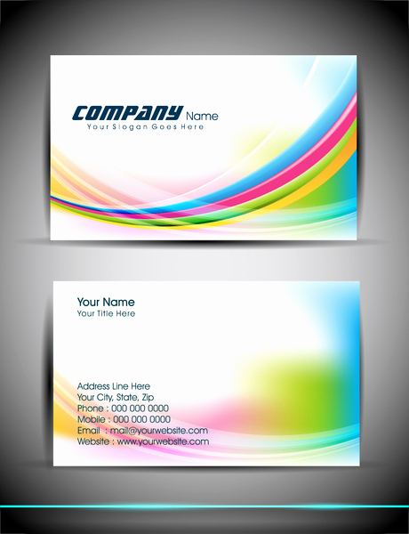 Business Card Template Illustrator Free New Abstract Business Card Template Free Vector In Adobe