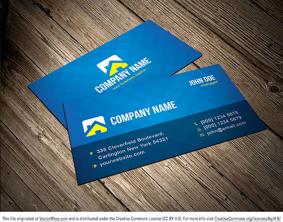 Business Card Template Illustrator Free New Free Vector Business Card Template Free Vector In Adobe