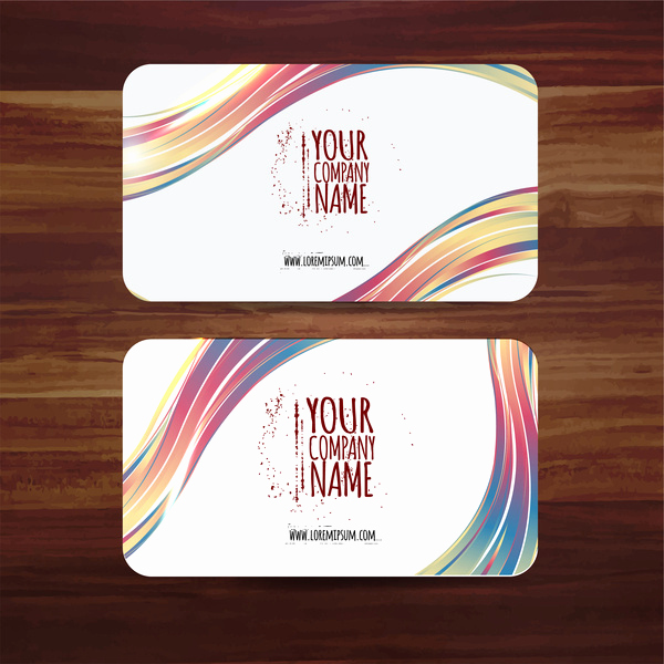 Business Card Template Illustrator Free Unique Business Card Template Vector Illustration with Colorful