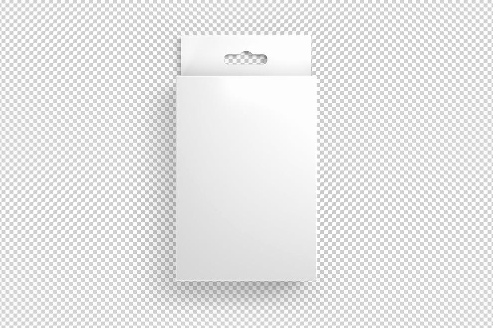 Cardboard Box Template Generator Best Of Front View Hang Tab Box Mockup Generator Mediamodifier