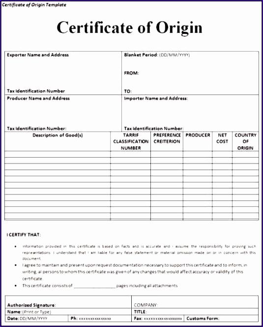 Certificate Of origin Template Excel Beautiful 10 Creating An Excel Template Exceltemplates