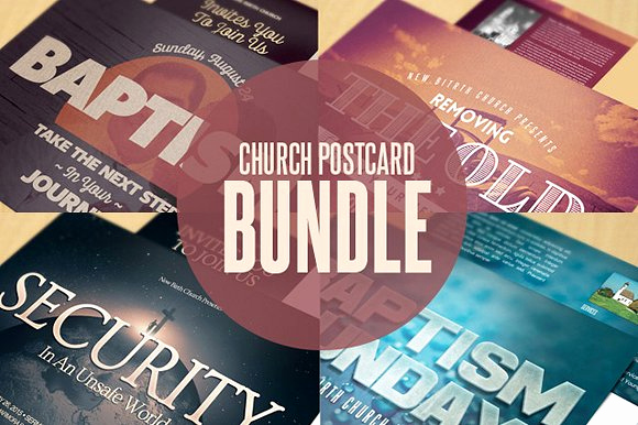 Church Invitation Cards Templates Beautiful Church Postcard Templates Bundle Postcard Templates