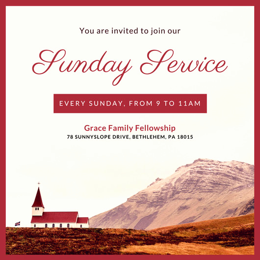 Church Invitation Cards Templates Elegant Customize 389 Church Invitation Templates Online Canva