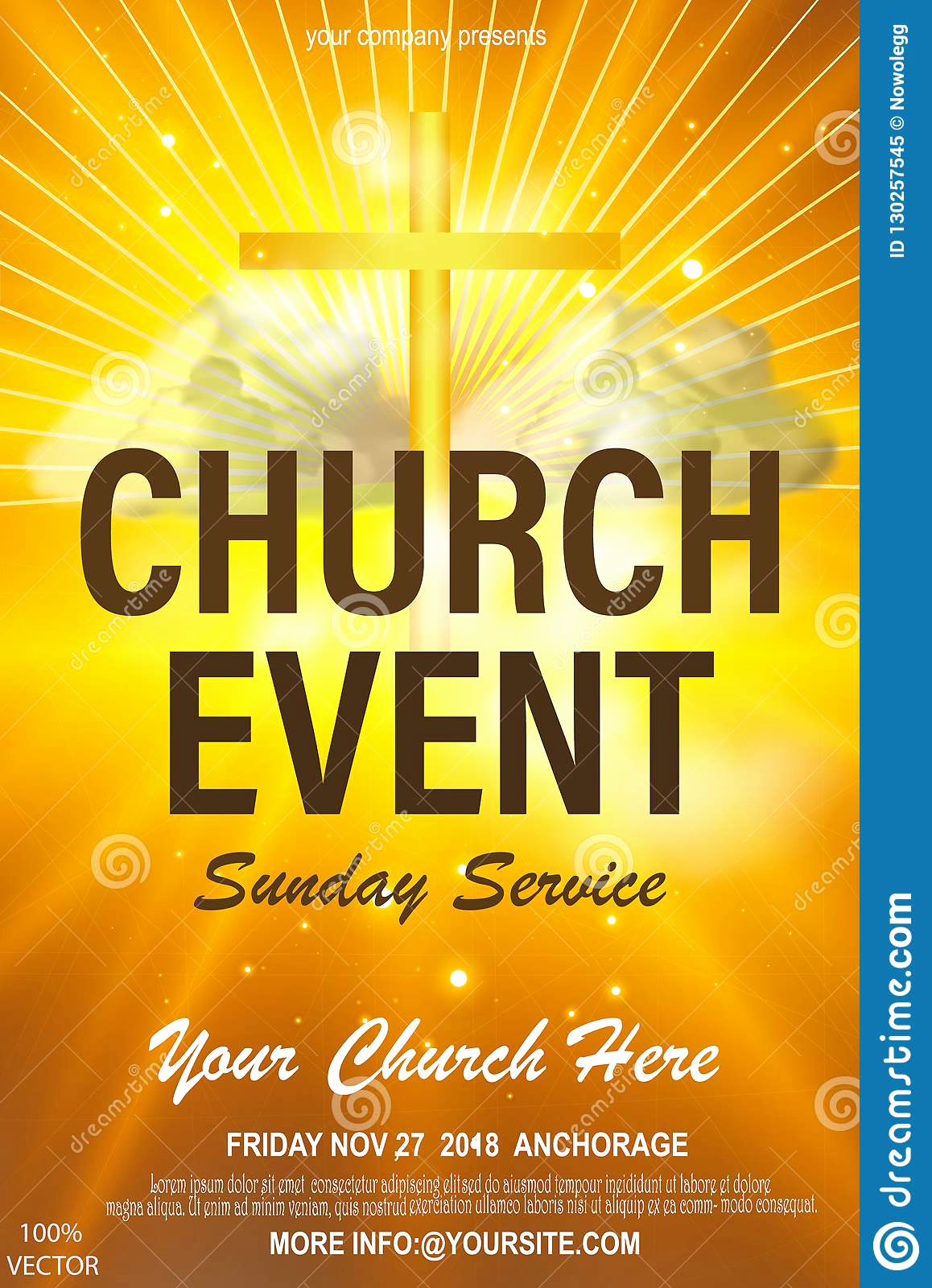 Church Invitation Cards Templates Lovely Christian Invitation Poster Template Religious Flyer Card