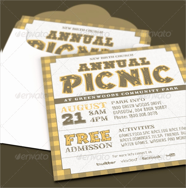Church Invitation Cards Templates Luxury 15 Picnic Invitations