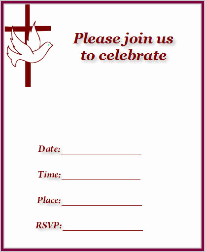 Church Invitation Cards Templates New Church and Cross Baptism and Christening Invitations Baby