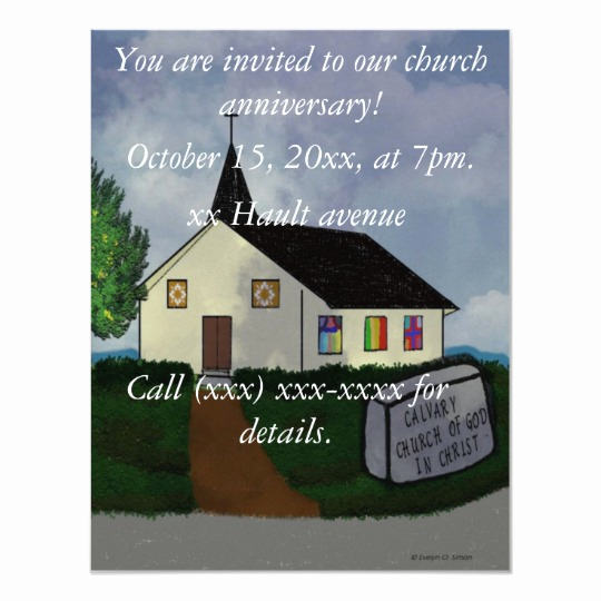 Church Invitation Cards Templates New Church Anniversary Invitation