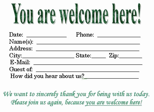 Church Visitor Card Template Word Beautiful 11 Best Pew Cards Images On Pinterest