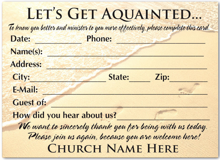 Church Visitor Card Template Word Best Of Wel E Visitor Postcard for Church [pc3005] Harrison