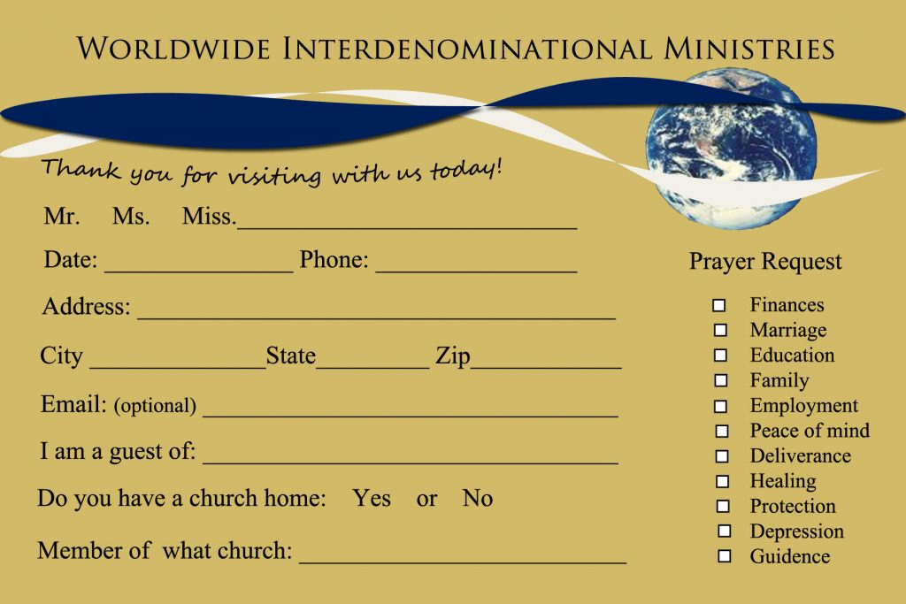 Church Visitor Card Template Word Luxury 8 Church Connection Card Templates
