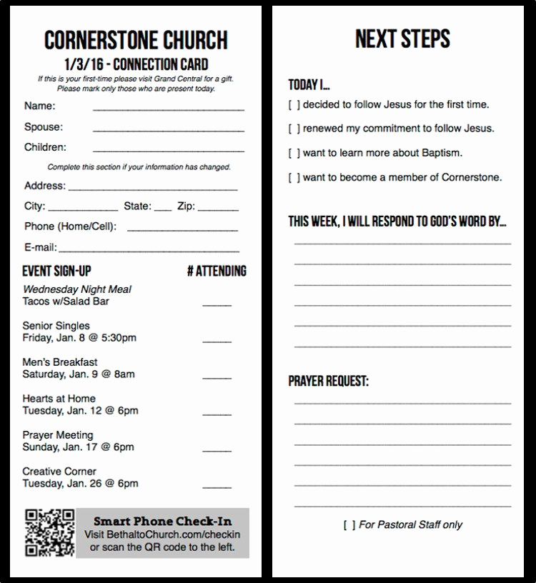 Church Visitor Card Template Word Luxury Free Church Publication Templates