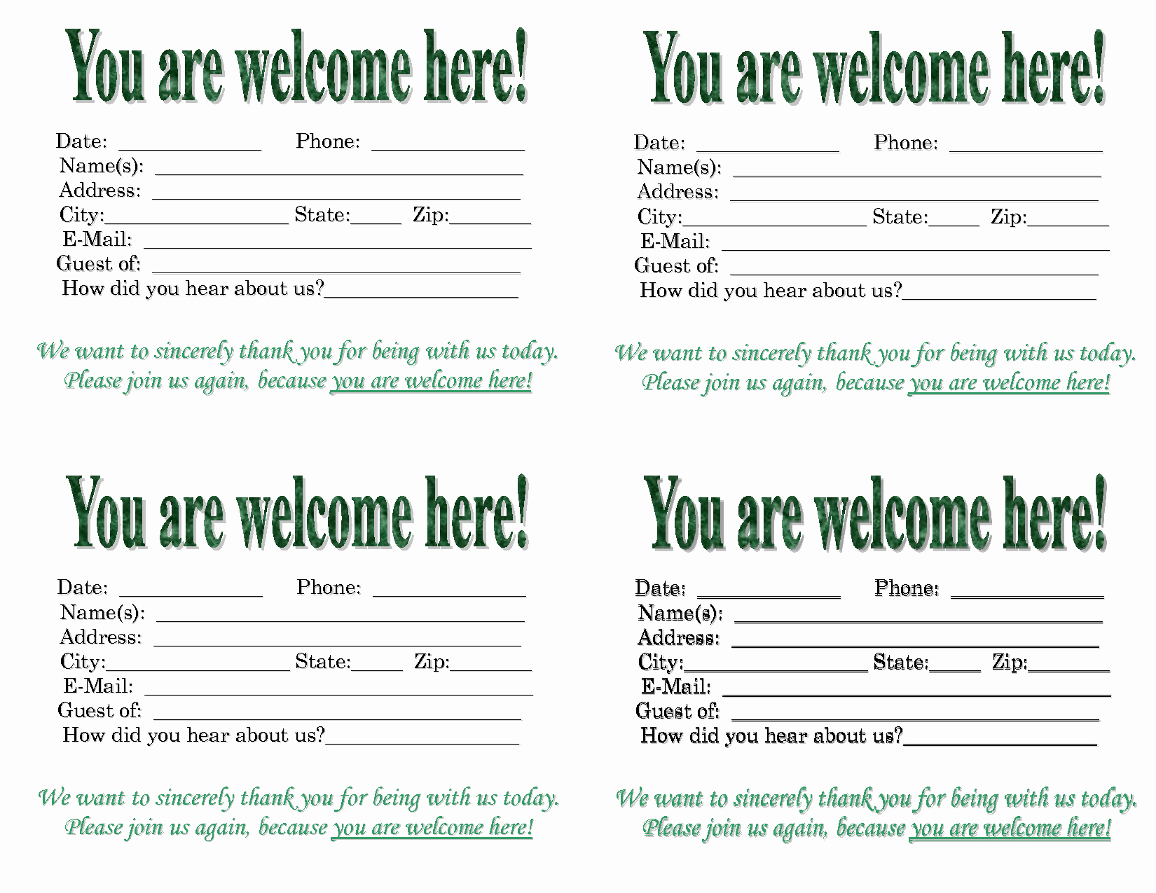 Church Visitor Card Template Word New 3 Best Of Church Visitor Card Template Church