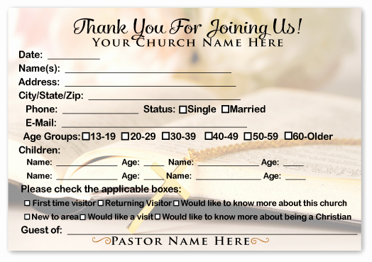 Church Visitor Card Template Word Unique 6 Best Of Printable Church Visitor Cards