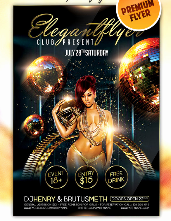 Club Flyer Templates Free Awesome 43 Club Flyer Templates Psd Rtf Pdf format Download