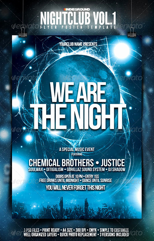 Club Flyer Templates Free Beautiful 13 Free Nightclub Flyer Design Templates Club