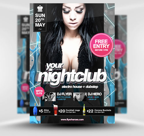 Club Flyer Templates Free Best Of 32 Awesome Free Psd Flyer Templates